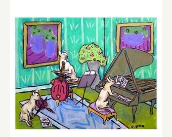 20% off storewide Siamese Cat Trio Animal Art Print