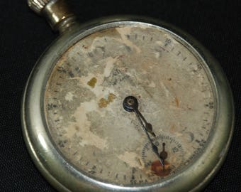 Vintage Antique Watch Pocket Watch Movement Case Body Dial Face Steampunk Altered Art SM 3