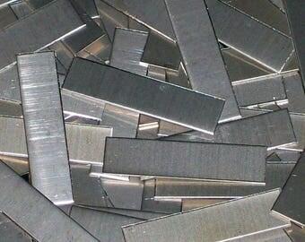 Nickel Silver Tags - 14 Gauge, stamping blanks, metal tags, rectangular blanks, nickel silver strips, nickel silver sheet strips, Bopper