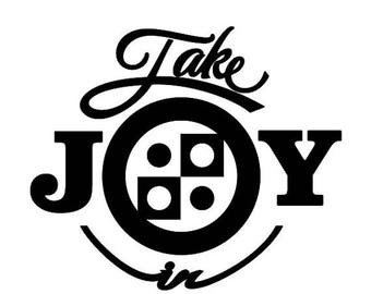 BACK to SCHOOL SALE Take Joy In Checkers Decal