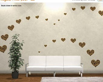 BLACK FRIDAY SALE Choose Size U0026 Qty: Leopard Print Hearts Reusable Wall  Decal Stickers   Part 36
