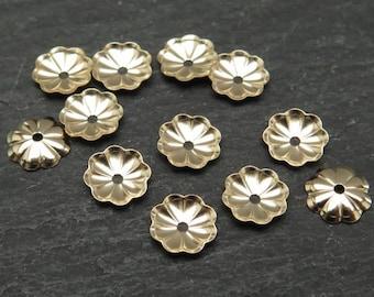 10 pcs Gold Filled Flower Bead Cap 6mm (CG8252)