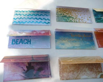 Beach Sea Shore Cash Envelope System, Ocean Budget Envelopes, Sun and Surf Money Envelopes, Set of 8