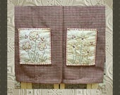 Prairie Flower Hand Towel Collection 1-Primitive Stitchery  E-PATTERN-Instant Download