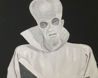 To Serve Man ~ Twilight Zone Inspired Painting