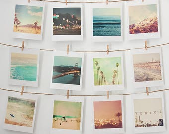 dorm decor, mini print set, small wall gallery photos, Los Angeles photograph, California wall art, beach decor, San Francisco, bestsellers