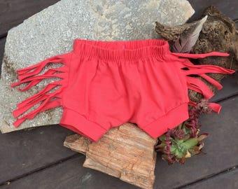 Fringe Shorts - Coral