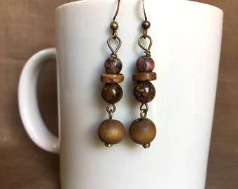 Voyager...Extreme Decaf Earrings...FREE U.S. SHIPPING