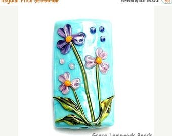 ON SALE 30% off 11834303 Kiley's Bouquet Kalera Focal Bead - Handmade Glass Lampwork Bead
