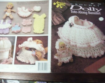 Doll Crocheting Patterns Dolly Tote Along Annie's Attic 302T Crochet Pattern Leaflet
