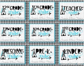 School Tribe SVG Bundle Teacher Tribe Svg, First Day of School SVG and DXF Files Silhouette Studios Cameo Cricut, Instant Download Scal