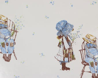 1970s Vintage Wallpaper Holly Hobbie Contact Paper Peel and Stick by the Yard