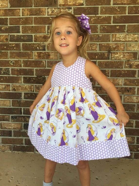 Rapunzel Dress,Princess Rapunzel Dress, Toddler Princess Dress,Tangled Dress, Birthday Dress,Princess Sundress, Tween Princess Dress