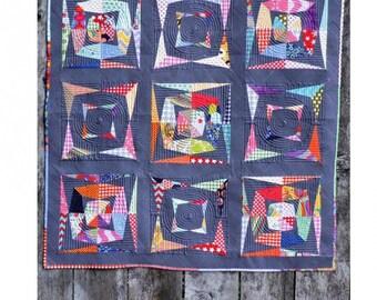 Kaleido Scrap Quilt Pattern - Kelli Fannin Designs