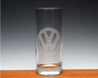 Engraved VW Drinking Glass