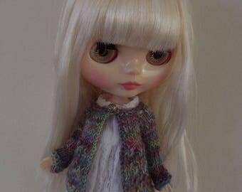 BLYTHE CARDIGAN/TOP, Blythe outfit, Blythe clothes, Blythe knitted top, blythe jacket