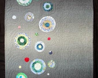 Renewing   Modern Gray Art Wall Quilt