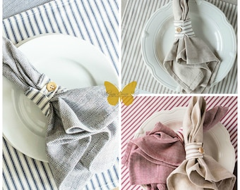 Country Farmhouse Reversible Napkin Rings