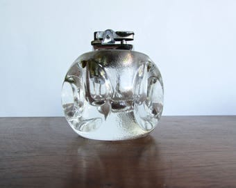 MCM Lucite Tablelighter, Vintage Japanese Tobacciana for Your Mid Century Modern Home