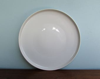 "Modern Porcelain-White 11"" Porcelain Charger w/ Low-Foot, in Paul McCobb White"