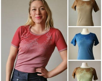 ON SALE Deadstock, 1970s Cupid's Garden Tee >>> Size Extra Small to Large