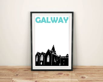 Galway Print // Ireland Art Print // Irish Poster // Galway Art // Galway Poster // Ireland Print // Irish Art // Irish Gift / Birthday Gift