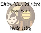 CUSTOM LISTING for Margaux - Doll Stand Made To Order! Unique OOAK Stand for Custom Monster Doll