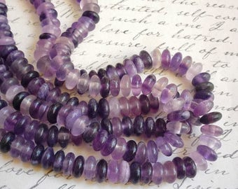 SALE 20% Off LARGE 2mm Hole Fluorite Rondelle Beads 10mm, Colorful Saucer Rondelle Beads