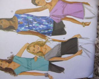 New/Uncut - Butterick Sewing Pattern B5609 - Easy Misses' Tops, Summer Shirts, Summer Tops