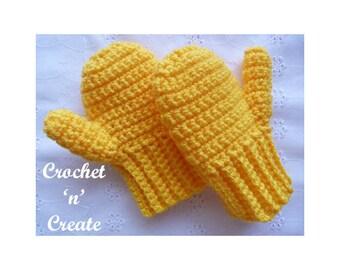 Crochet Toddler Mitts Crochet Pattern (DOWNLOAD) CNC94