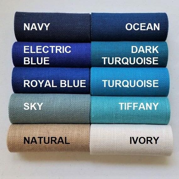 Navy Dark Blue Wandfarbe: 9 In BLUE Burlap Ribbon