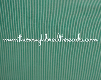Green Pin Stripe - Vintage Fabric 50s 60s New Old Stock Christmas 35 in wide
