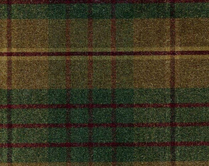 10 Yards Earthy AUTUMN PLAID Waxed Oilcloth Cotton Canvas Duck Plaid Fabric For Apparel Upholstery Bags Outdoor Gear Tents