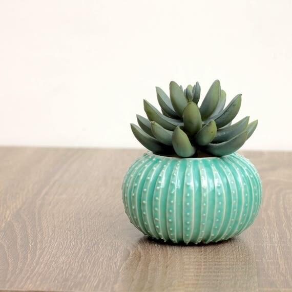 aqua bud vase