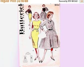 on SALE 25% Off 1960s Womens Sheath Dress Pattern Junior size 11 UNCUT Full Skirt Dress, Sheath Dress, Short Jacket Vintage Patterns 60s