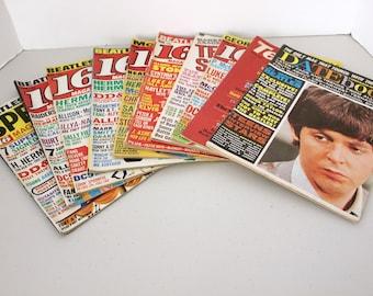 Lot of 10 Beatles 1960s Magazines Covers, Vintage 16, Datebook, Teen Set, Scoop