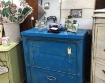 Beach Blue Chest of Drawers