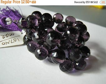 ON  SALE Amethyst Hydro Quartz Gemstone. Faceted  Onion Briolettes. 8mm  Pairs or Non Match 1 - 5 Briolette (2hqa).