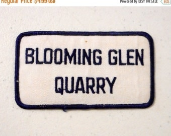 Blooming Glen Quarry Uniform Patch Pennsylvania Blue White PA