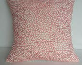 Coral pillow. Decorative  pink  coral embroidered cushion cover. Notical inspired pillow. Beach decor. custom made 12 to 20inchs. And oblong