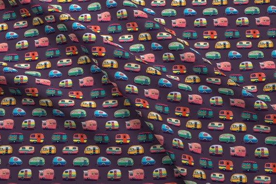 Camper Fabric Happy Camper By Penguinhouse Camper