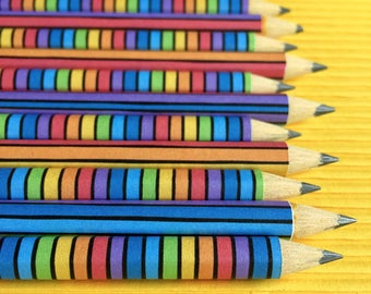 Mini Groovy Doodle Pencils (Rainbow)