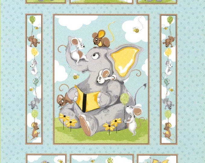 SUSYBEE KNIGHTLEY PANEL, Children's Cotton Panel by Susybee 35 x 43 inches