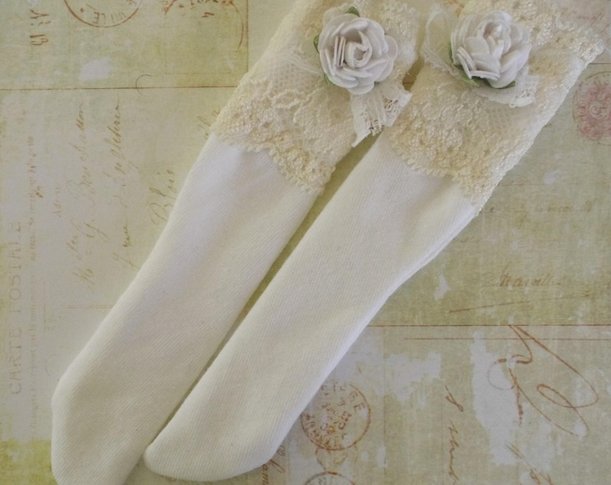 Super Cute Knee Socks by MyOwnLittleWorld for 1/4 BJD Volks MSD Kaye Wiggs Rosenlied Holiday
