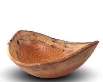 Natural Edge Wood Bowl - Honey Locust Wood - Rustic
