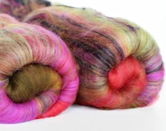 Echerveria 4 oz  Wool - Merino // Art Batt // Wool Art Batt for spinning or needle felting