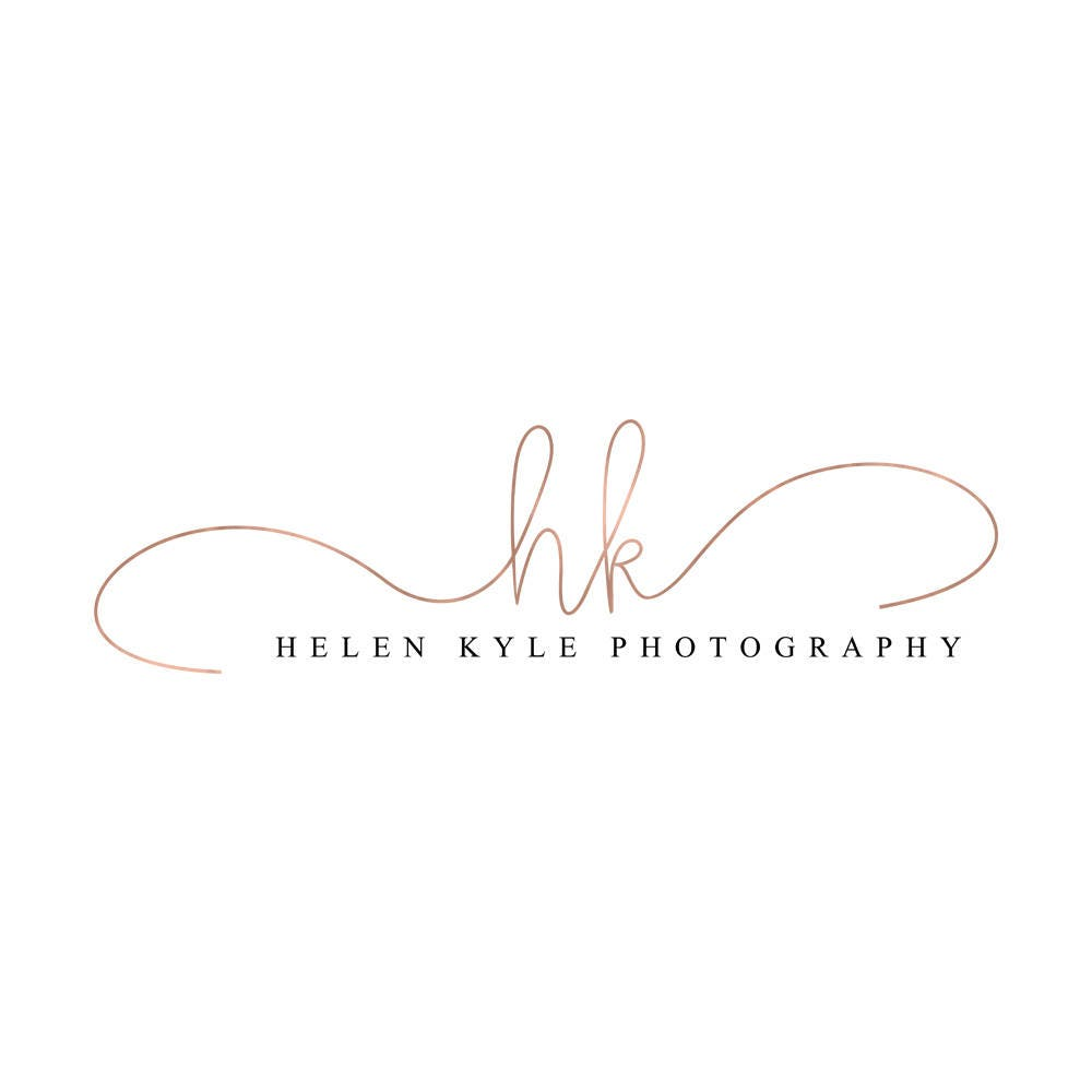 rose gold logo calligraphy watermark photography logo lash logo