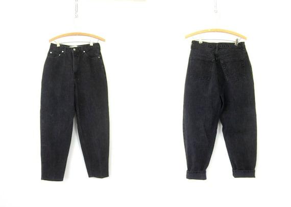 90s Black GAP Denim Jeans Hipster High Waisted MOM jeans Grunge Street Wear Punk Black Denim Work Jeans Womens size 10 Reverse Ankle Fit