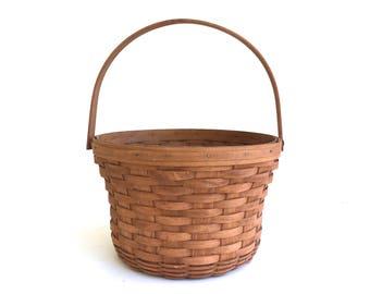 Vintage Signed Longaberger Basket~ Market Basket~ Handle basket~ Garden Basket, Farmhouse decor