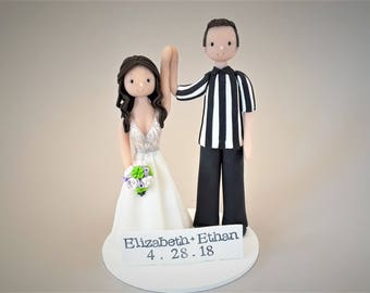 Bride & Groom Personalized Wedding Cake Topper